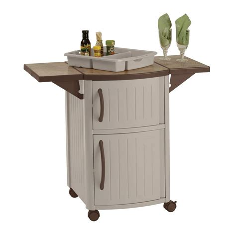 cabinet station suncast serving station patio cabinet dcp2000 the home depot