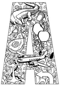25 alphabet coloring pages ideas