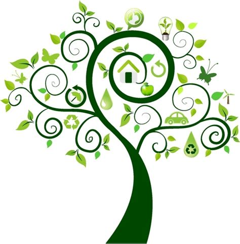 Green Tree With Ecology Icons Free Vector In Adobe Illustrator Ai Ai Encapsulated Ecology Green Icons Tree With Logo Vector Stock Vector Image 51156431