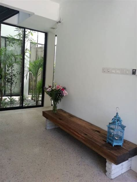 renovated terrace house renovated terrace house malaysia view of indoor courtyard greets guests extension