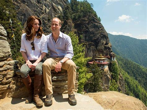 william and kate royal visit bhutan kate middleton and prince william s hike photos people com