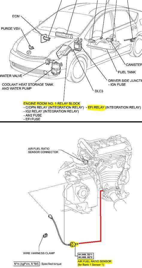 p0051 oxygen af sensor heater control circuit low bank p0031 2007 toyota prius oxygen sensor heater control