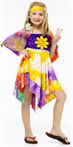 daisy hippie girls fancy dress 1960s 1970s kids childrens