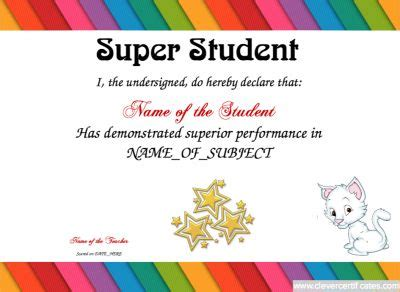 Super Student Award Template Free To Customize Download Print And Email Hundreds Of Images To Award Email Template