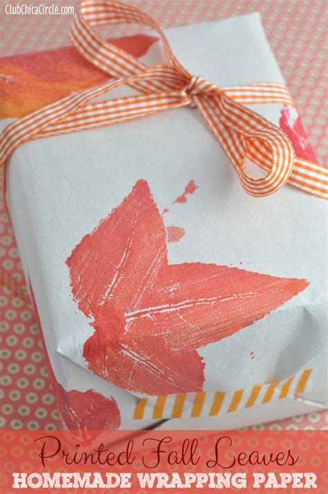 Printed Craft Paper - printed fall leaves wrapping paper