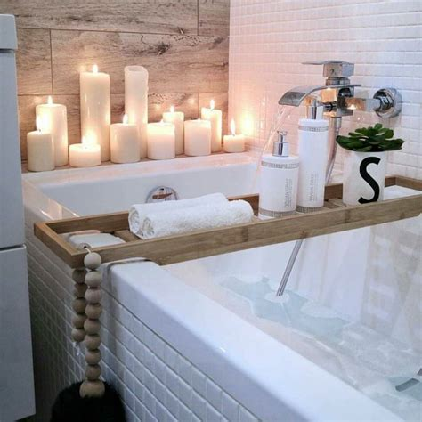 badezimmer spa deko spa badezimmer resort stil kerzen pflegeprodukte aktuelle