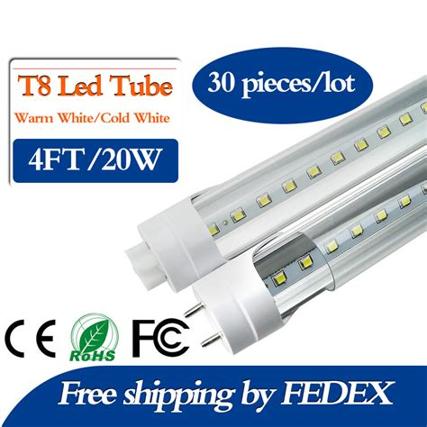 buy led tube lights online aliexpress com buy fedex free 20w 4ft feet t8 1200mm led