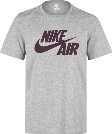 t shirt my airs nike nike air logo t shirt grey