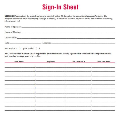 student sign in sheet template sign in sheet template 34 free documents in