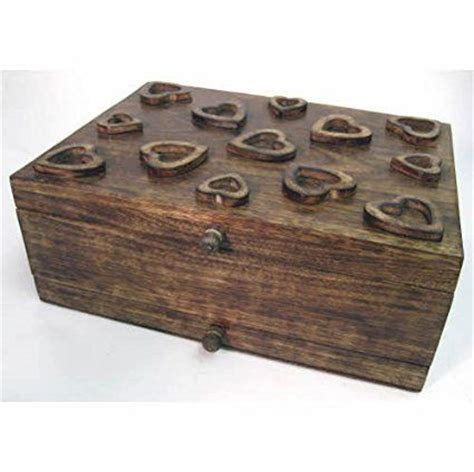 Handmade Jewellery Boxes Uk - mango wood jewellery box with drawer and lift out tray and