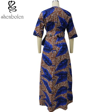 V Batik Dress by Africa Fashion Individuality Printed Dress Of Traditional