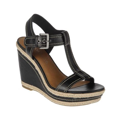 franco sarto black sandals franco sarto ambrosia wedge sandals in black lyst