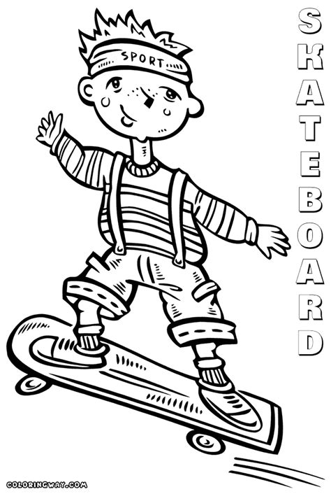 Skateboard Coloring Pages Coloring Pages To Download And Skateboarding Coloring Pages Free Printables