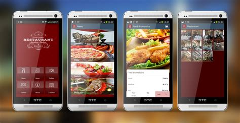restaurant menu layout apps mobile phone apps smart phone development mobile app and