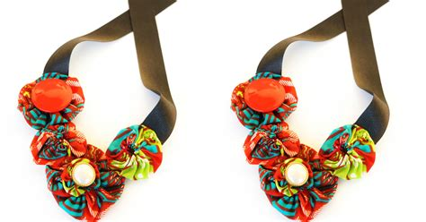 ankara fabric necklace ankara fabric diy necklace you need to try this weekend