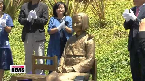 australian comfort women japan opposes comfort women statue in australia youtube