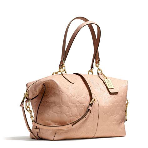 Coach Emboss coach bleecker cooper satchel in embossed logo leather in