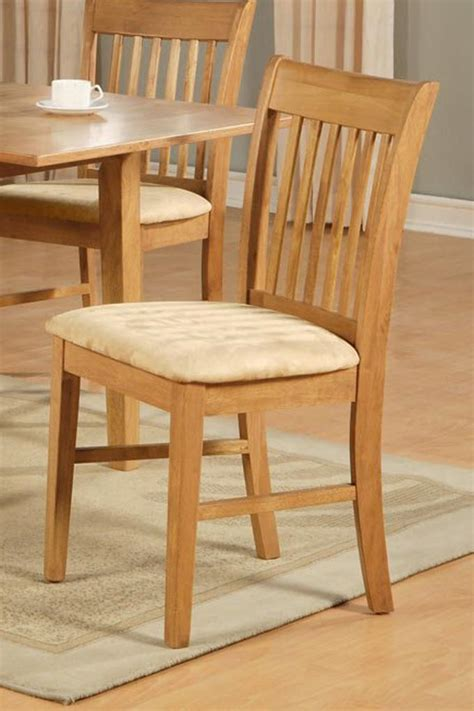 Oak Kitchen Chairs by Set Of 6 Norfolk Dinette Kitchen Dining Room Solid Wood Chairs In Oak Finish Ebay