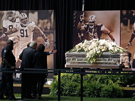 Smiths Funeral by New Orleans Saints Will Smith Emotional Viewing