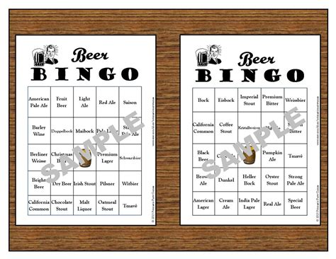 barcrawl card template 30 printable bingo cards instant use for