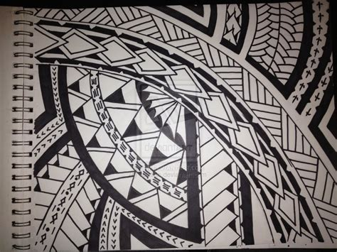 simple polynesian tattoo design samoan poly design by settarts on deviantart
