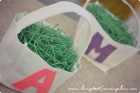 pattern for felt easter basket diy felt monogram easter basket living well spending less 174