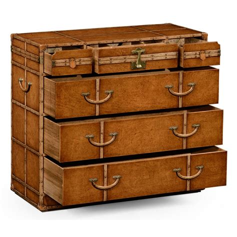 Leather Trunk Chest Of Drawers travel trunk leather chest of drawers swanky interiors