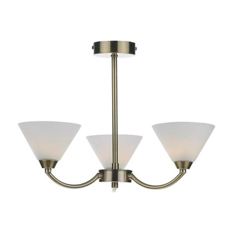 Modern Antique Brass Ceiling Lights Hen0375 Henley Modern 3 Light Antique Brass Semi Flush Ceiling Light Lighting From The Home