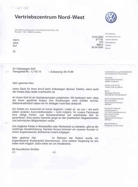 Beschwerdebrief Garantie Musterbrief Bitte Um Stellungnahme