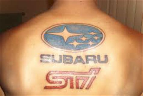 Subaru Car Logo Tattoo On Back Tattooshunt Com