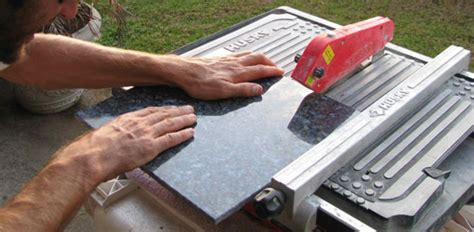 Cutting A Granite Countertop by How To Install A Granite Tile Countertop Today S Homeowner