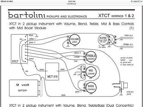 bartolini wiring diagram bartolini wiring diagram