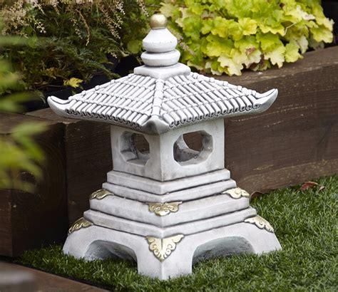 Pagoda Garden Decor Borderstone One Tier Pagoda Garden Ornament Gardensite Co Uk