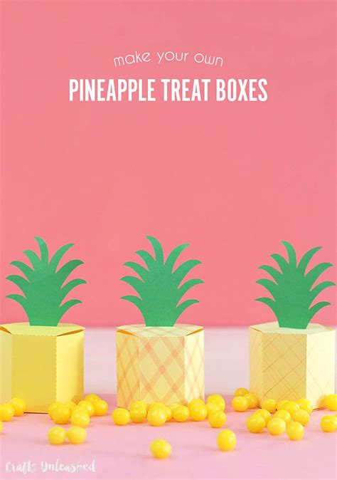 gift box templates gift box template diy pineapple treat boxes consumer crafts