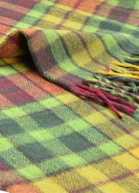 scottish cushions throws and rugs new scottish wool tartan blanket throw rug gift various tartans ebay