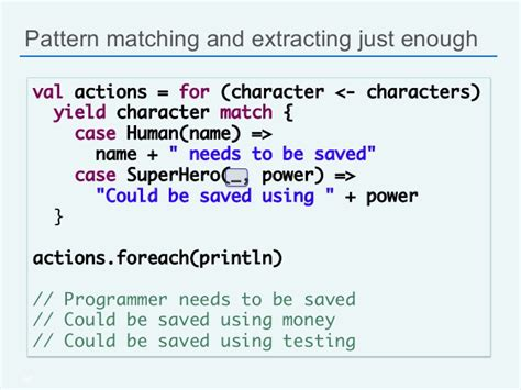 yield pattern matching scala for java developers silicon valley code c 13