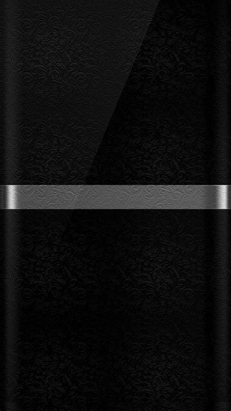 Dark S7 Edge Wallpaper 10 - Black Background and Silver