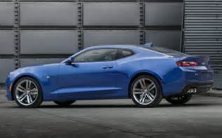 new 2016 chevrolet camaro chases after the mustang with a