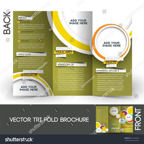 Couture Trifold Travel In Mock by Trifold Travel Mock Brochure Design Stock Vector 151416284