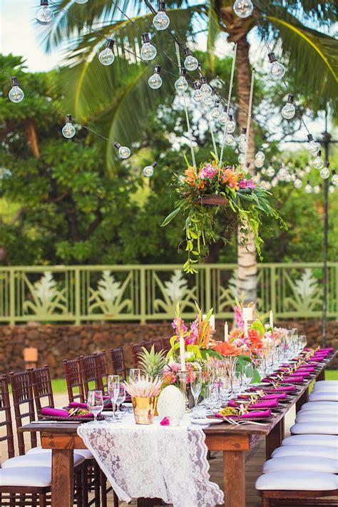 hawaii wedding florist tropical wedding ideas tropical centerpieces vintage hawaii wedding
