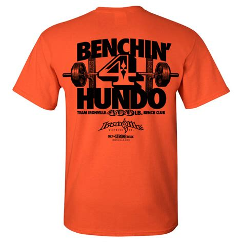 bench press 400 400 pound bench press club t shirt ironville clothing