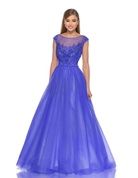 Sleeve Floor Length Dresses by A Line Tulle Applique Cap Sleeve Floor Length Dress