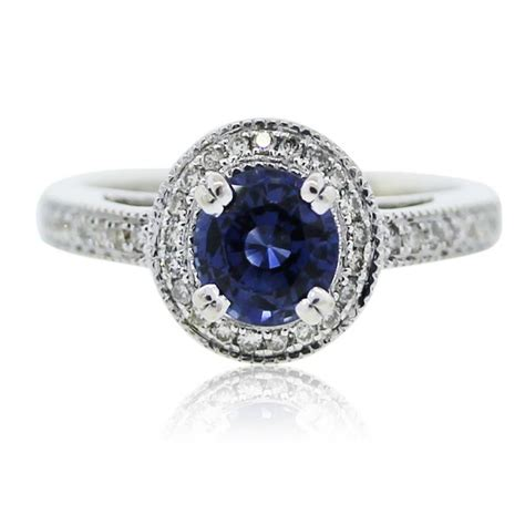 14k white gold sapphire and ring boca raton