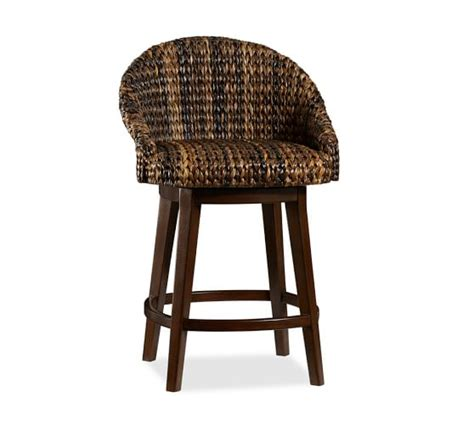 Seagrass Stool seagrass swivel barstool pottery barn