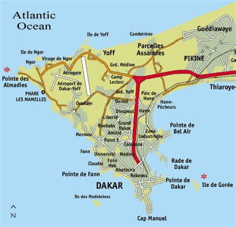 senegal map maps of dakar