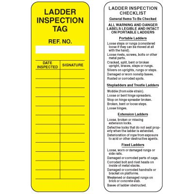 ladder inspection template replacement tags for laddertag 174 ladder safety system