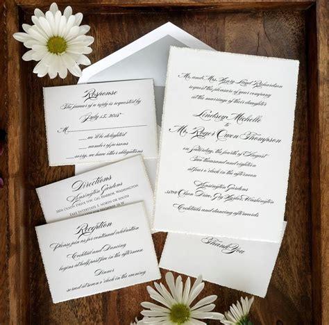 Wedding Invitations Raised Print by Shining Sophistication Wedding Invitation Rustic Wedding
