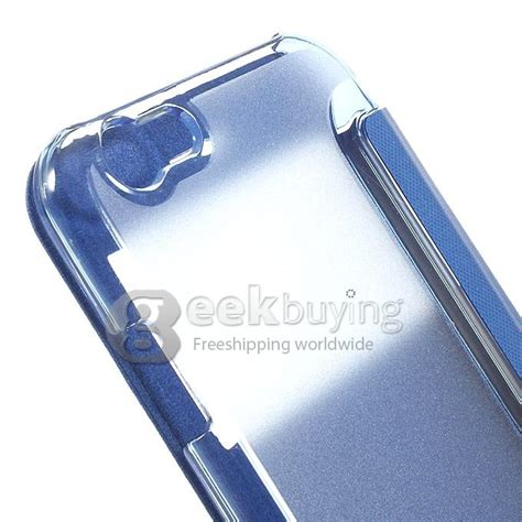 Iphone 66s 47 Inch Clear View Leather window front pu back pc folio leather cover for iphone 6