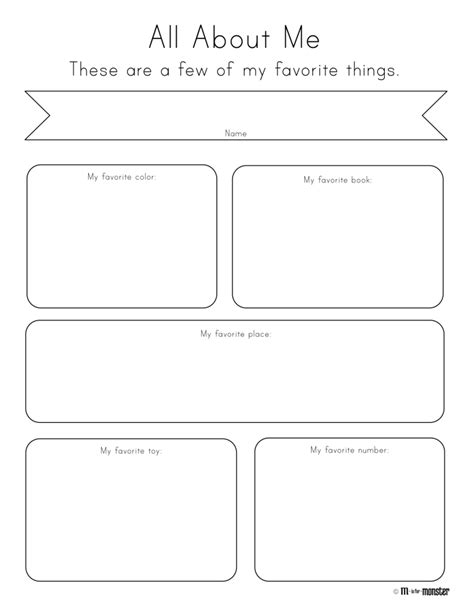 all about my template 14 best images of things about me worksheet all about me