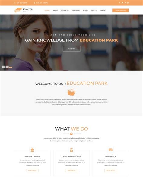 creating a webpage with twitter bootstrap edu kinect blog 90 best education website templates free premium